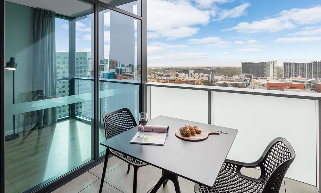 Balcony View from Avani Adelaide Residences