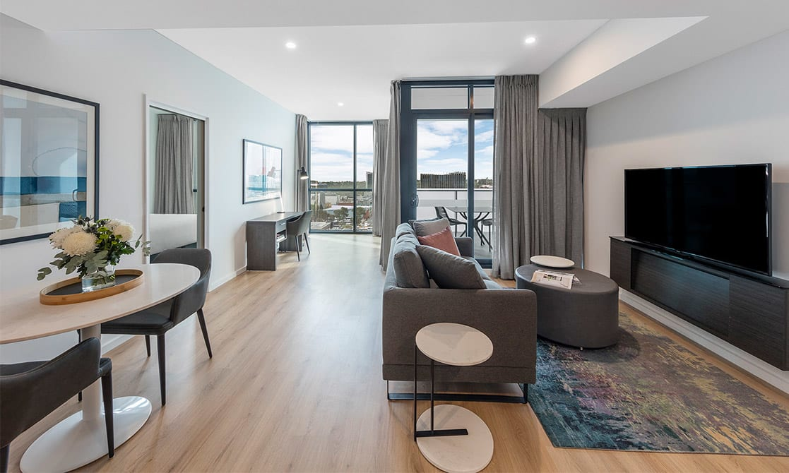 Spacious Open Plan Living Room equipped with Smart TV and Free Wi-Fi
