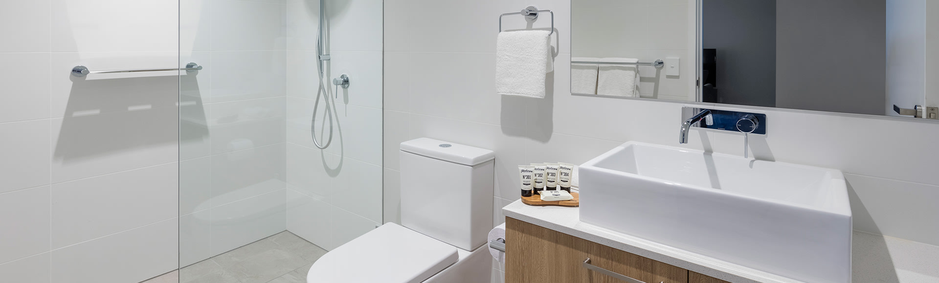 High quality bathroom amenities at Avani Adelaide