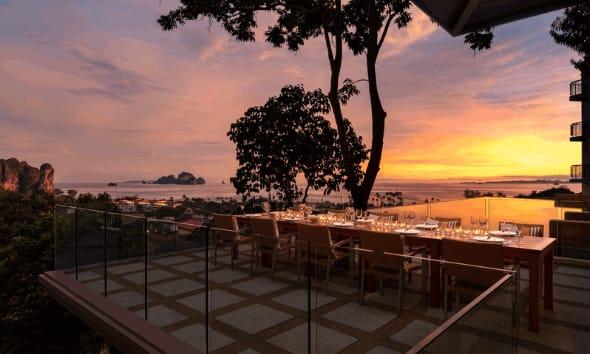 The Cliff Restaurant at Avani Ao Nang Cliff Krabi Resort