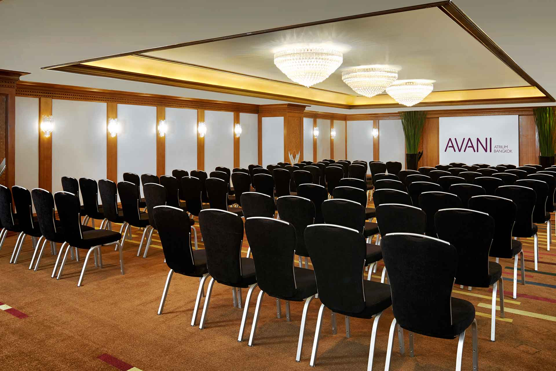 AVANI Atrium Pailin room theater classroom set up