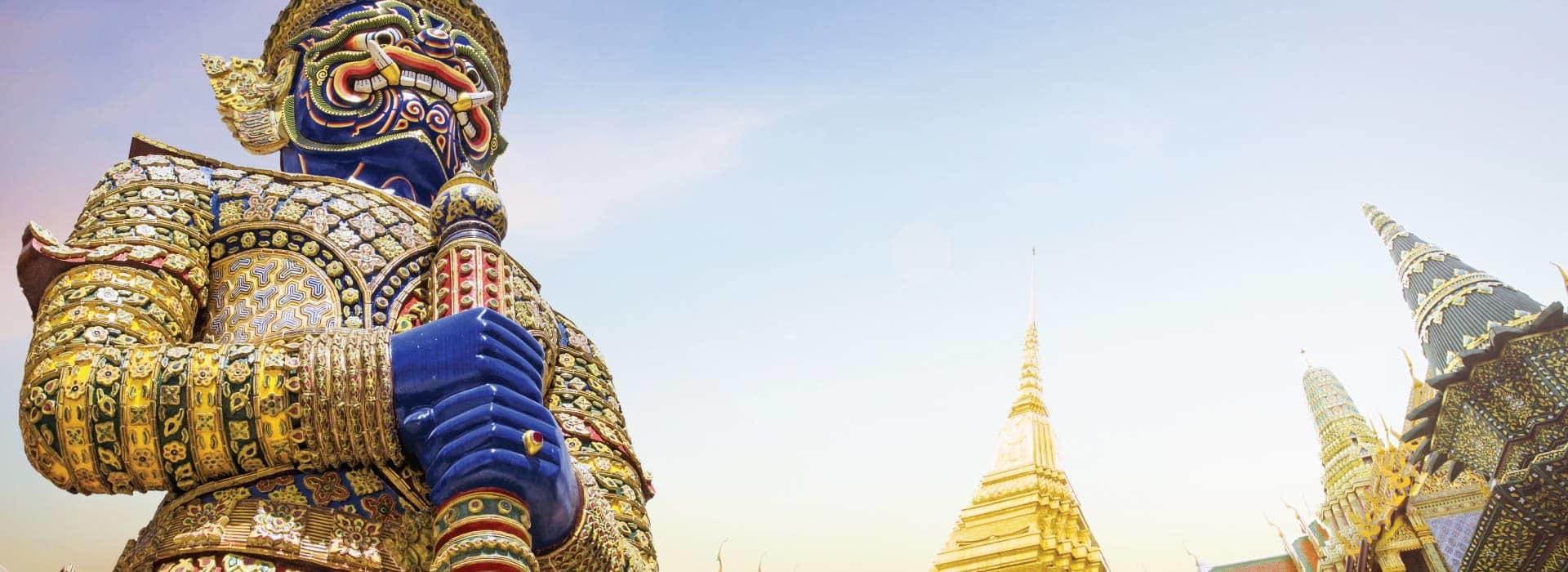 A statute in a temple in Bangkok Thailand