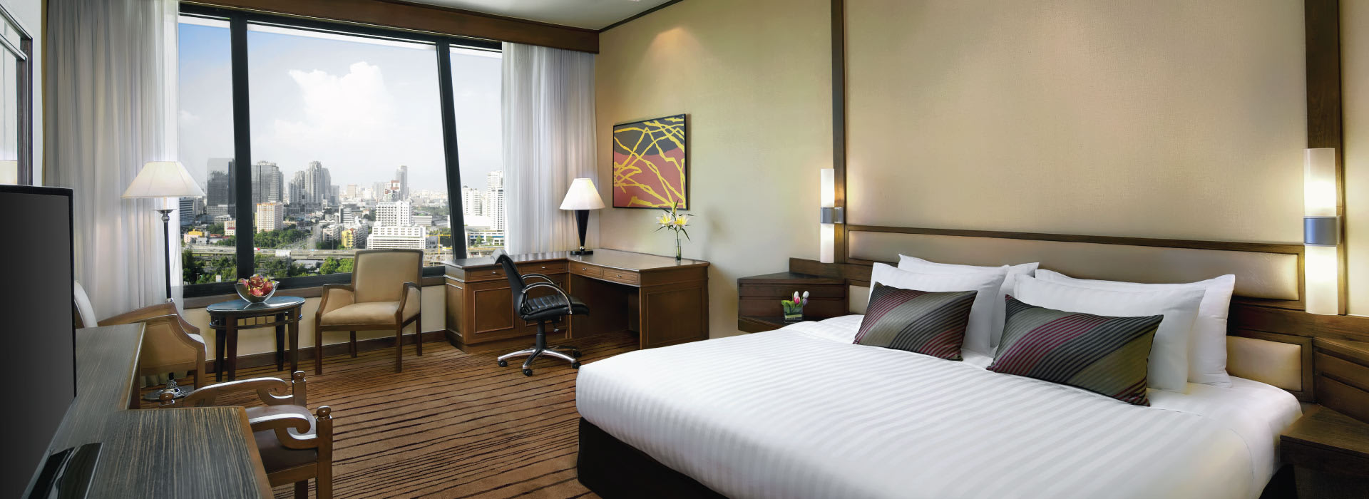 Interior of an executive room ar one of the Bangkok City Hotels