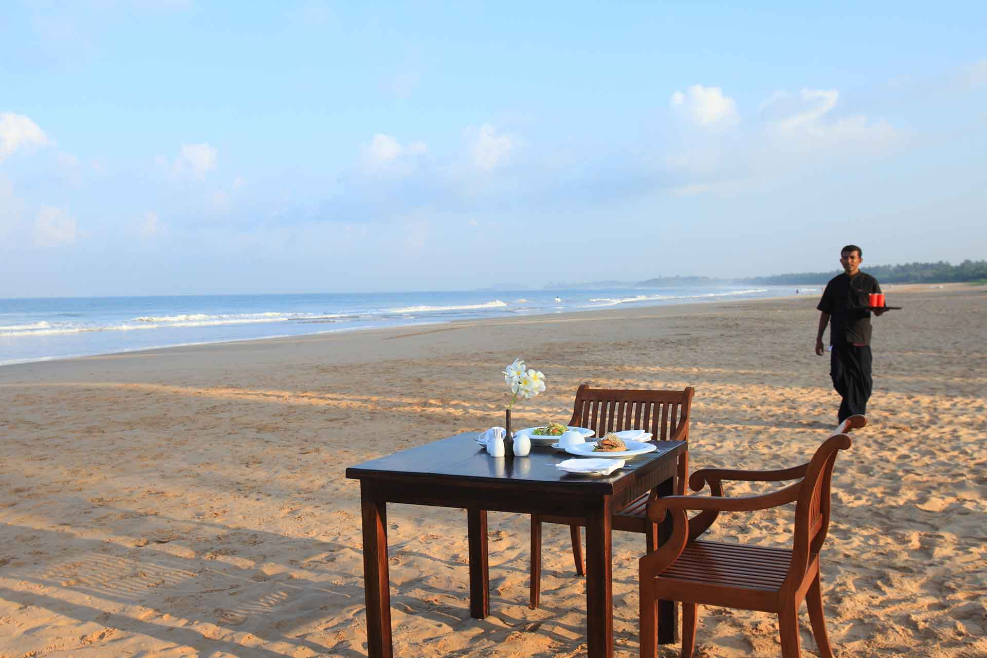 Private dining on beach at AVANI Bentota