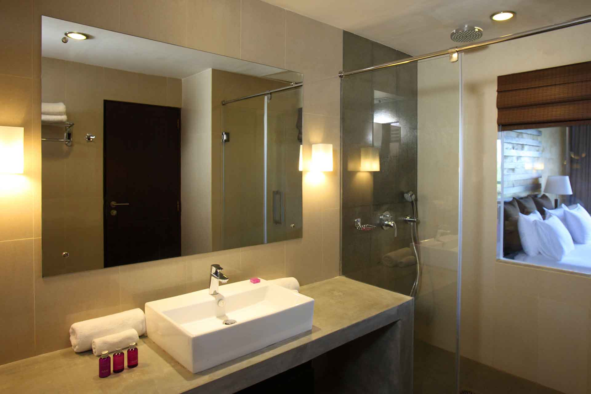 Bathroom interior of a superior room