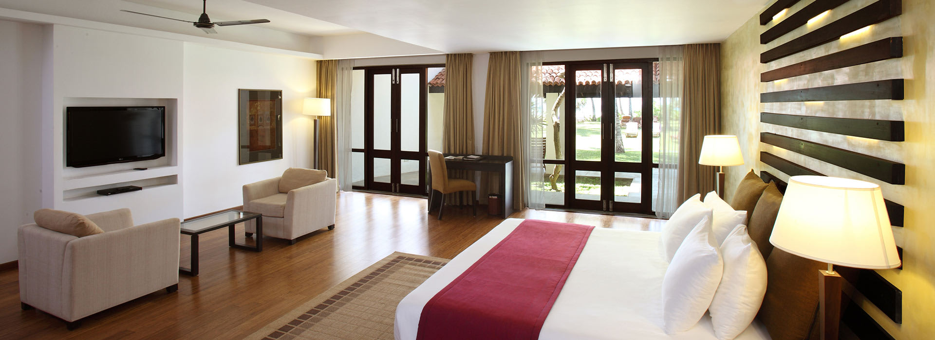 A deluxe room of one of the Resorts in Bentota