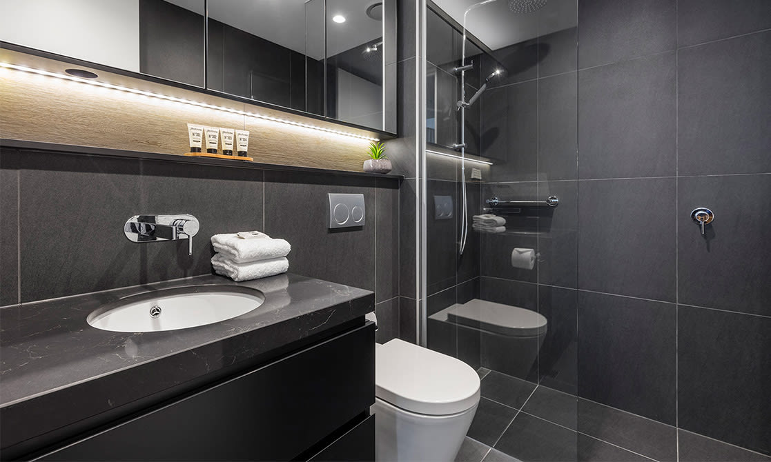 Avani Box Hill One Bedroom Suite Bathroom