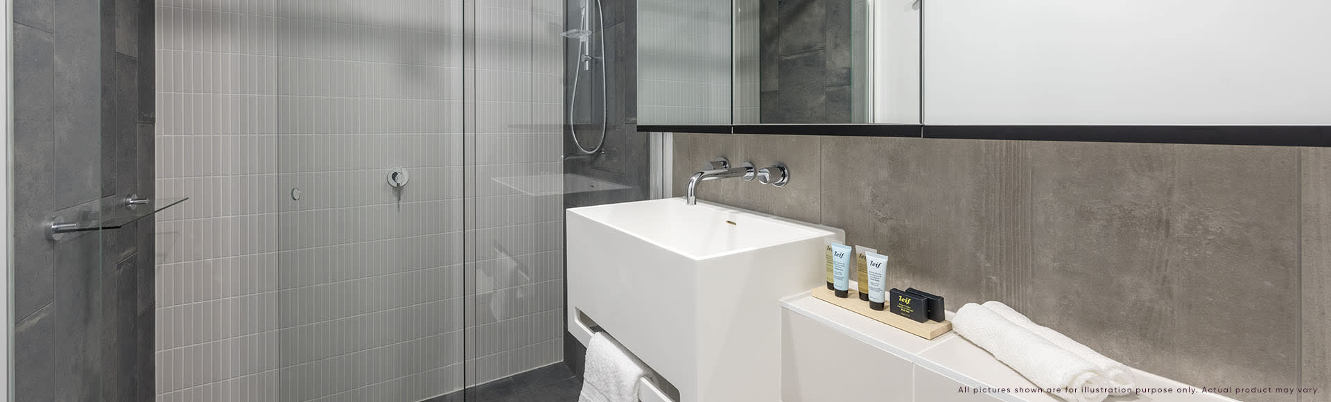 Avani Box Hill 1 Bedroom Suite Bathroom 1920x580px