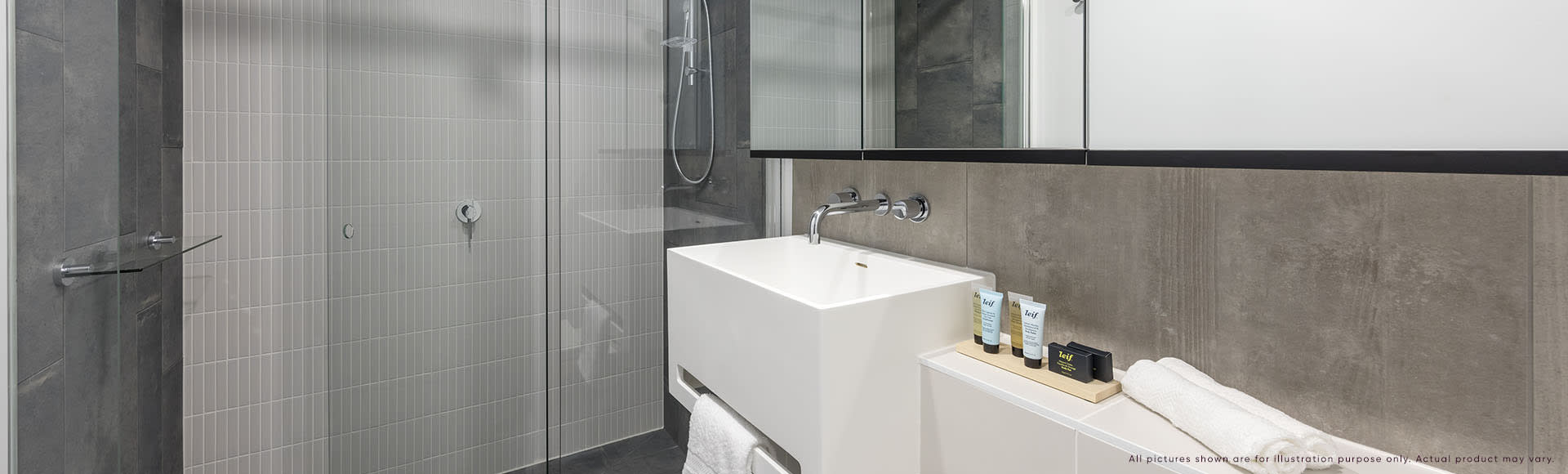 Avani Box Hill 1 Bedroom Superior Suite Bathroom 1920x580px