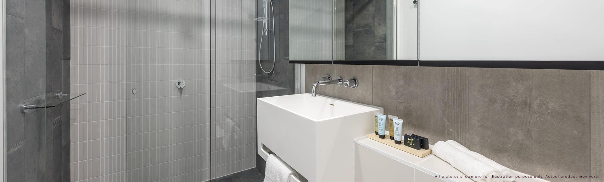 Avani Box Hill 2 Bedroom Suite Bathroom 1920x580px