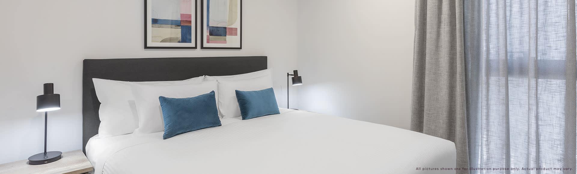 Avani Box Hill 2 Bedroom Suite Bedroom 1920x580px