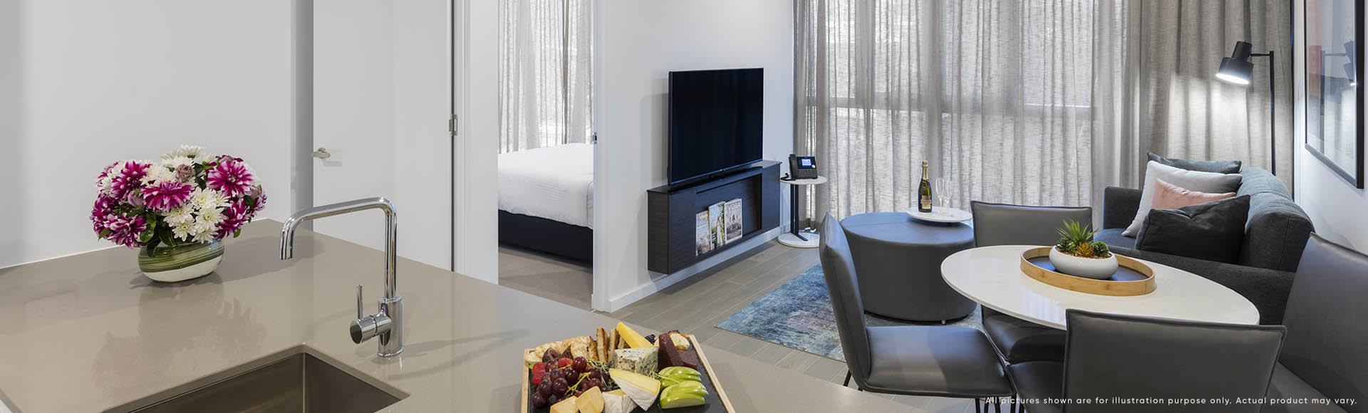 Avani Box Hill 2 Bedroom Suite Lounge 1920x580px