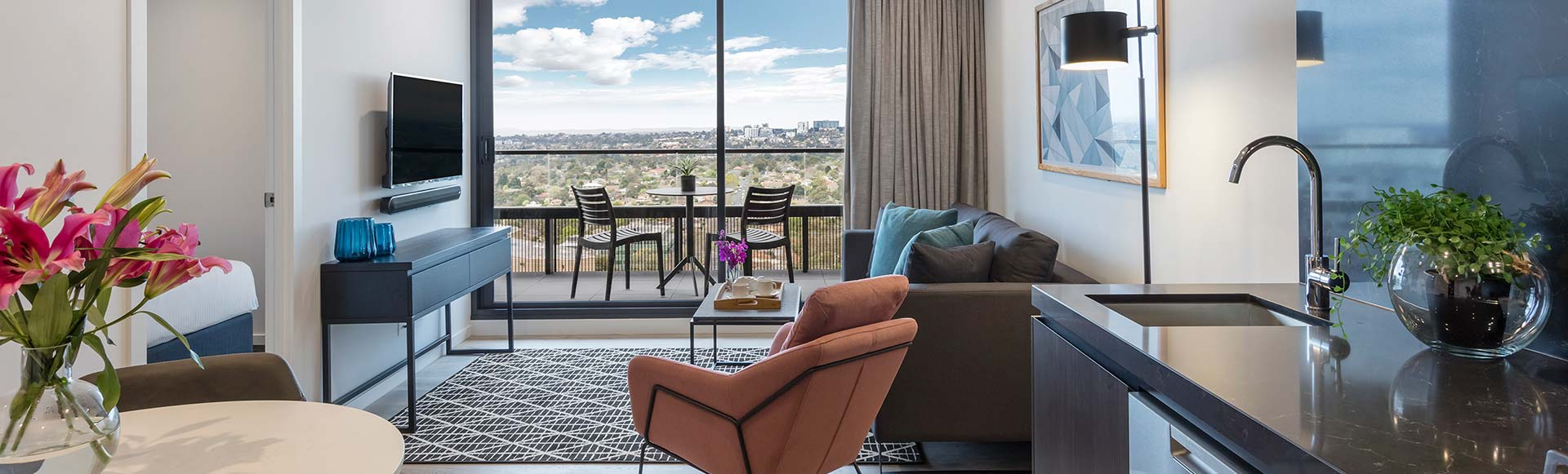 Avani Melbourne Box Hill Residences 1 Bedroom Suite Living Dining