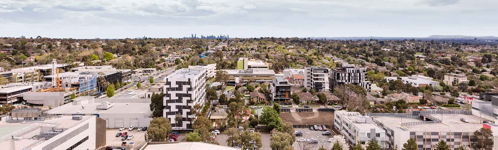 Avani Melbourne Box Hill Residences 1 Bedroom Suite View