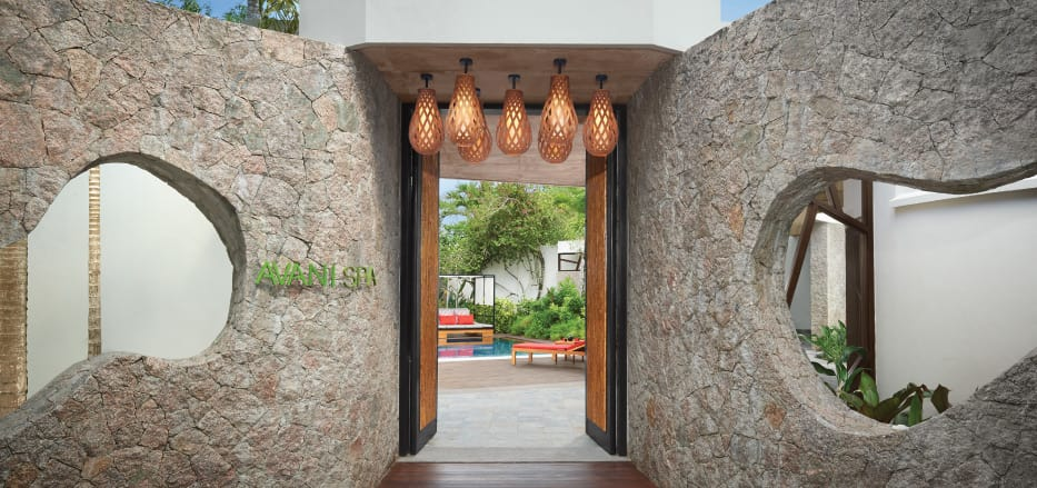 Entrance to one of the AVANI Spa Resorts Asia