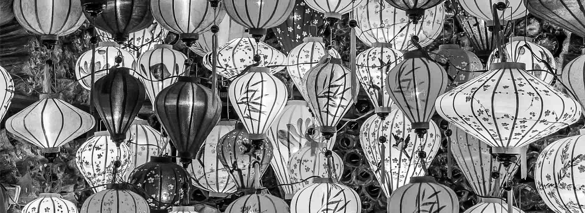 Image of a group of Chinese lanterns