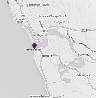 A map showing the location of AVANI Bentota Resort