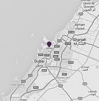 Location of AVANI Deira Hotel on a map