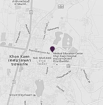 Location of AVANI Khon Kaen Resort on a map