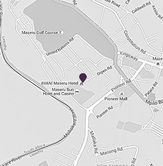 Location of AVANI Maseru on a map