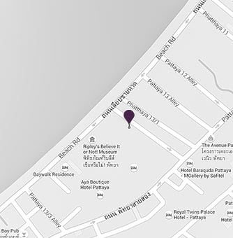 AVANI Pattaya Resorts sitemap on a map