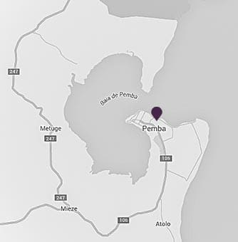 Location of AVANI Pemba Beach Hotel on a map