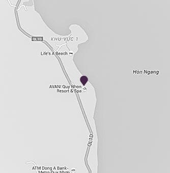 Location of AVANI Quy Nhon Resort on a map