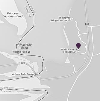 AVANI Victoria Falls location on a map