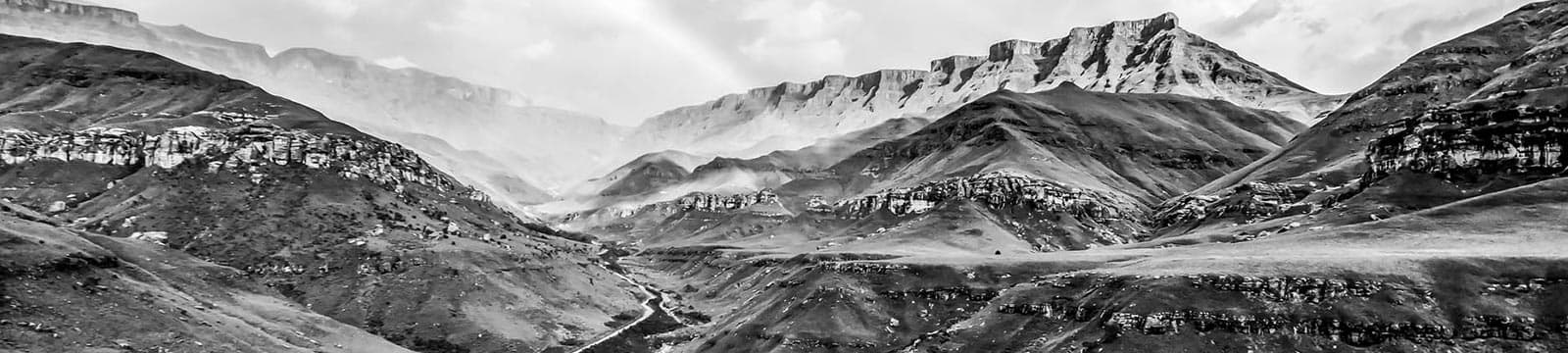 View of the Lesotho mountain range