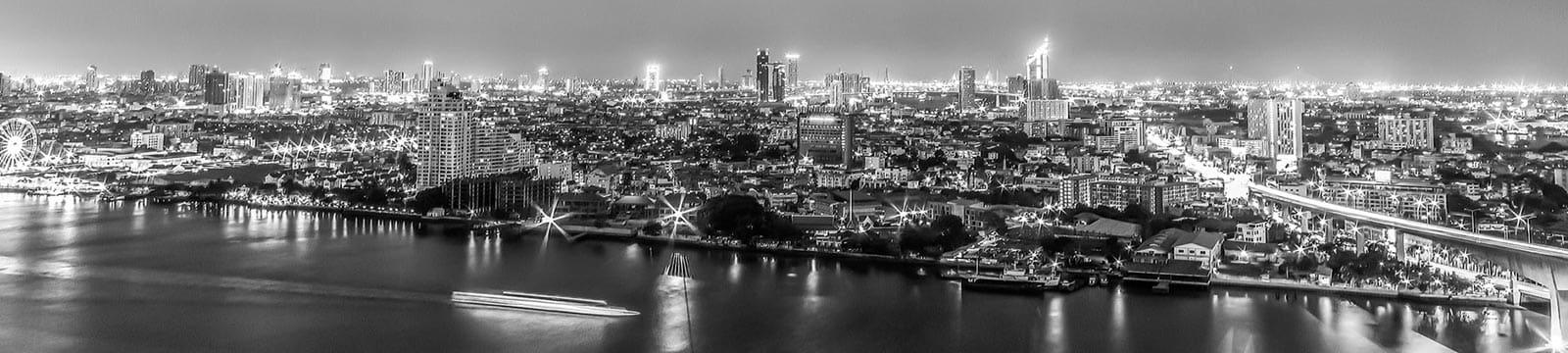 Bangkok City view at night