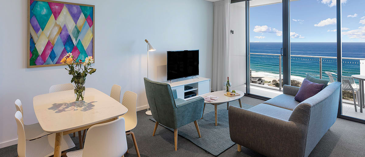 Interior view AVANI Broadbeach hotel room Gold Coast Australia