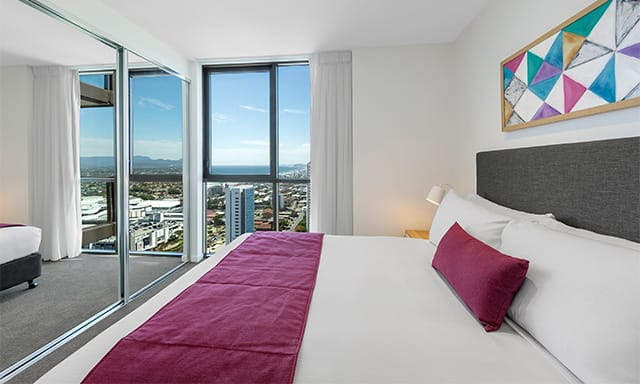 AVANI Broadbeach 1 Bedroom Ocean Suite Bedroom at AVANI Broadbeach Gold Coast Australia