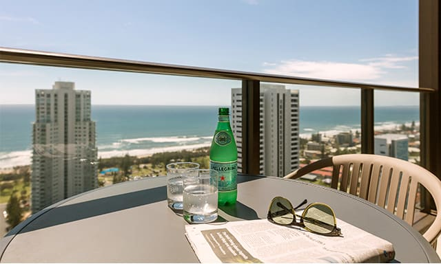 AVANI Broadbeach 2 Bedroom Ocean Suite Balcony View at AVANI Broadbeach Gold Coast Australia
