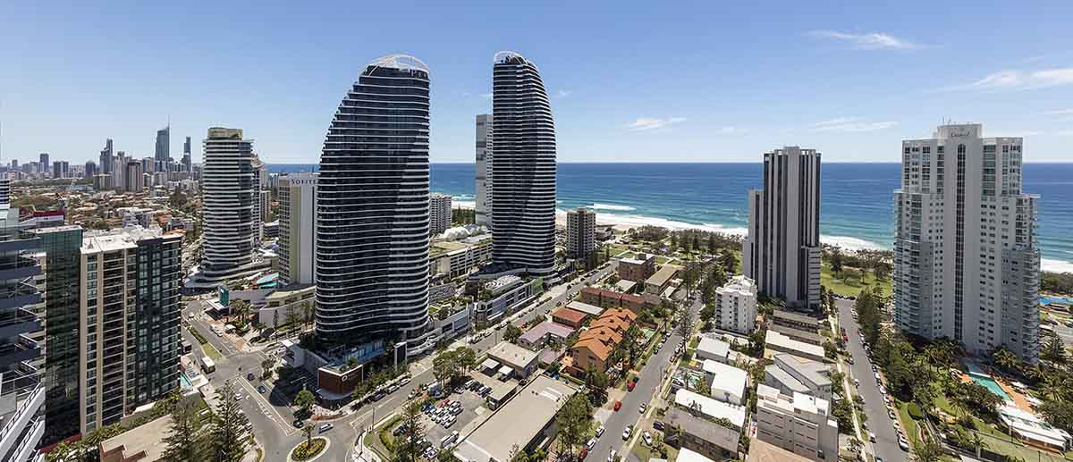 Grand ocean and city view at AVANI Broadbeach Gold Coast Hotels