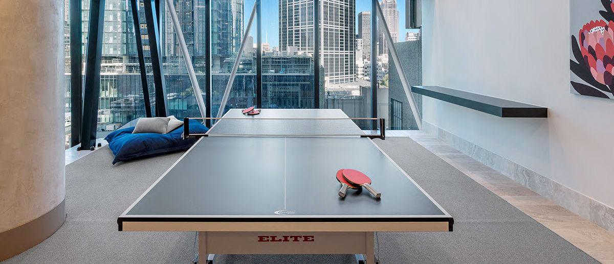 ping pong table tennis room AVANI Central Melbourne hotel