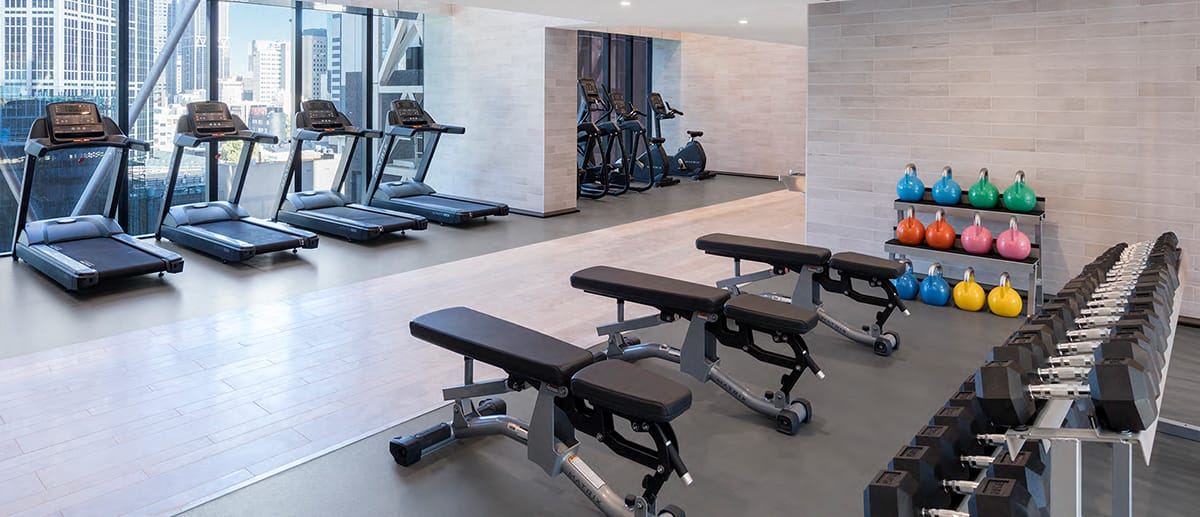 weights gym treadmills AVANI Central Melbourne hotel