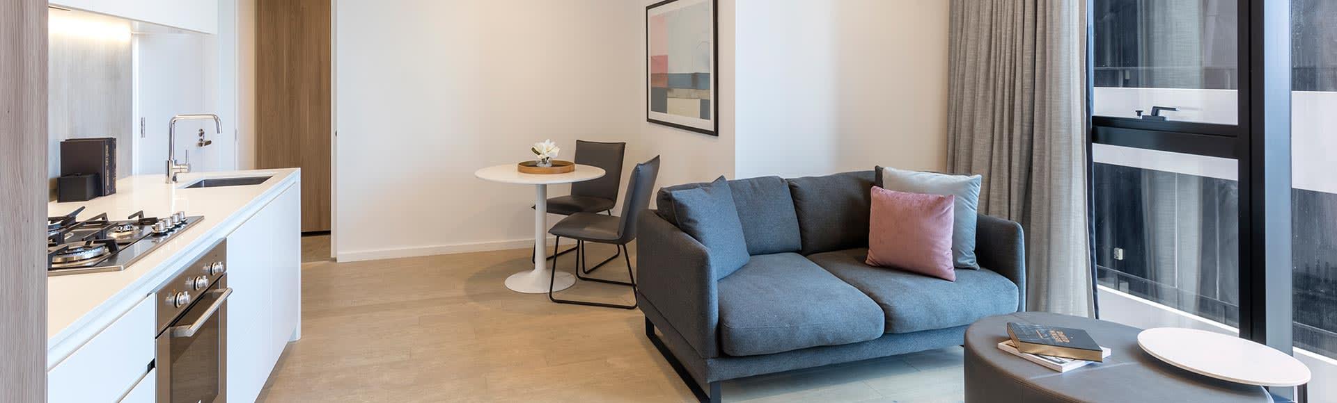 Avani Melbourne Central Residences 1 Bedroom Suite Living