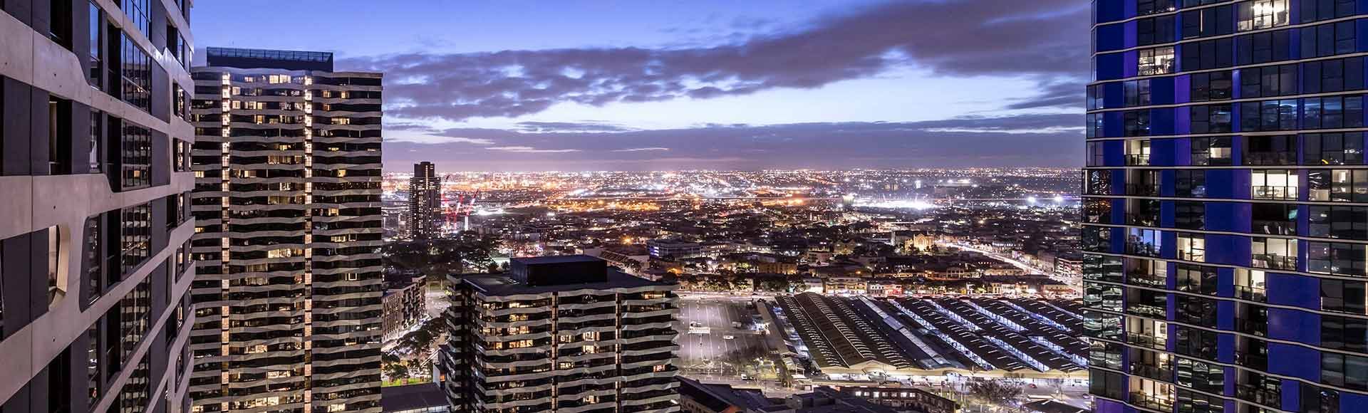 Avani Melbourne Central Residences 1 Bedroom Suite View