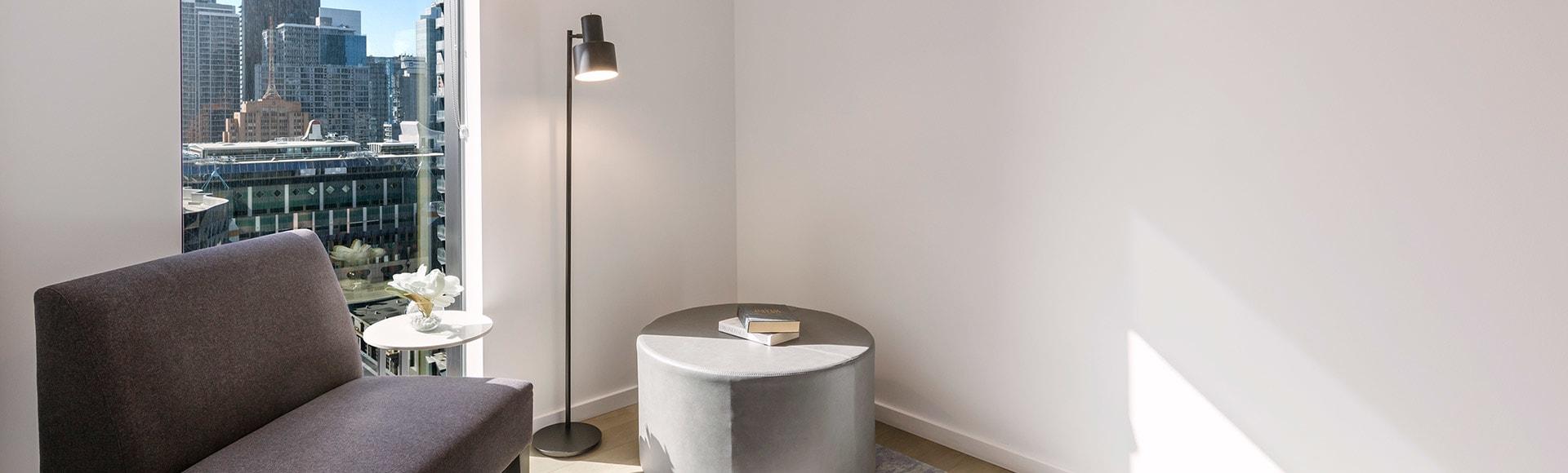Avani Melbourne Central Residences 1 Bedroom Superior Suite Living Nook