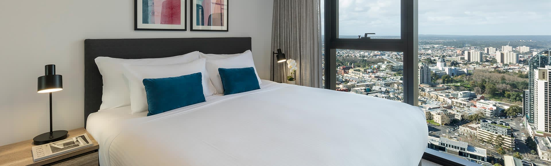 Avani Melbourne Central Residences 2 Bedroom Suite Bedroom