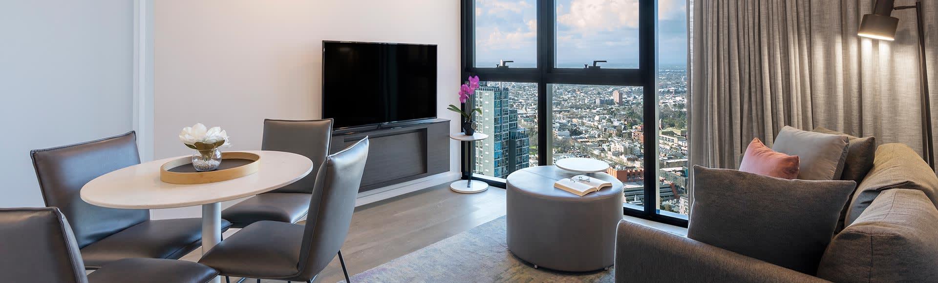 Avani Melbourne Central Residences 2 Bedroom Living Out