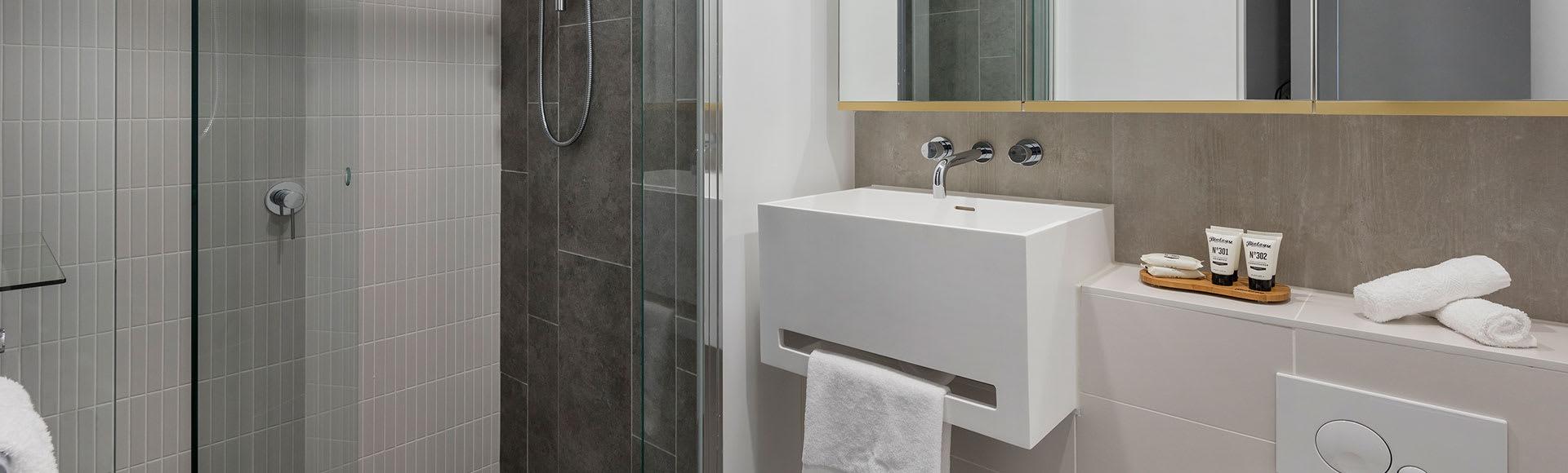 Avani Melbourne Central Residences 2 Bedroom Superior Suite Bathroom