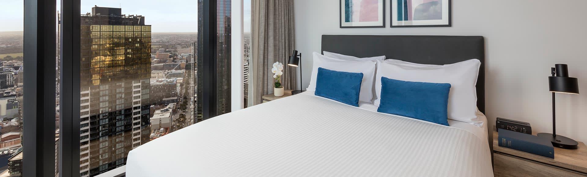 Avani Melbourne Central Residences 2 Bedroom Superior Suite Bedroom