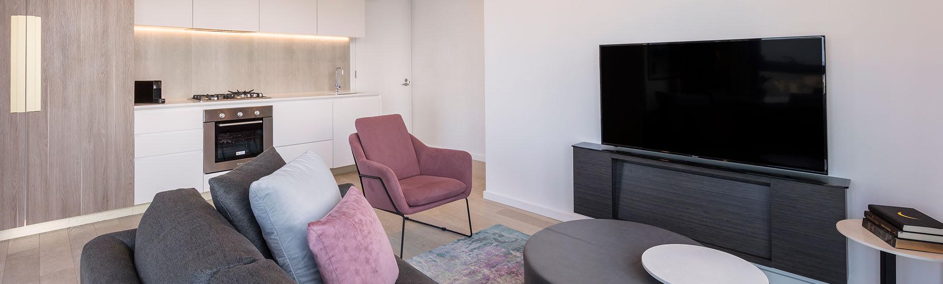 Avani Melbourne Central Residences 2 Bedroom Superior Suite Living