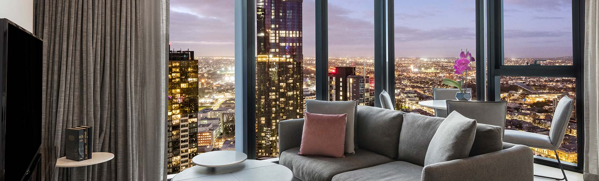 Avani Melbourne Central Residences 2 Bedroom Superior Suite Living Out