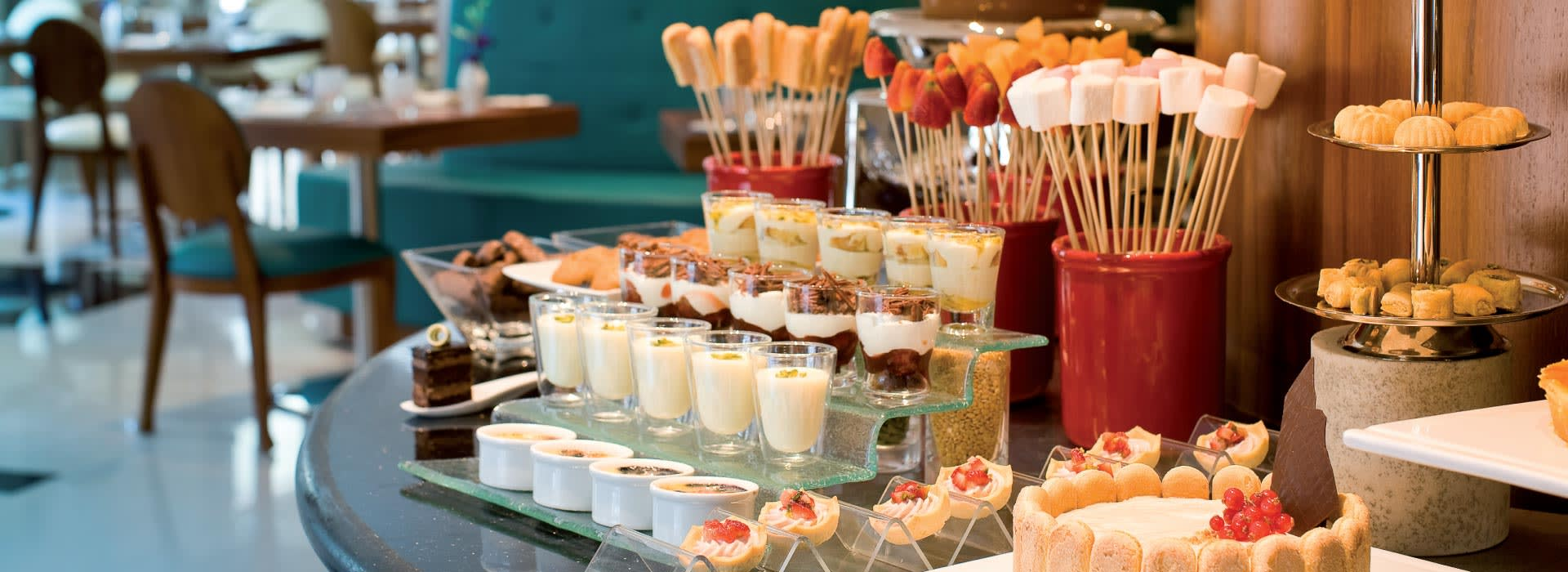 Desserts served at one of the  Restaurants in Deira