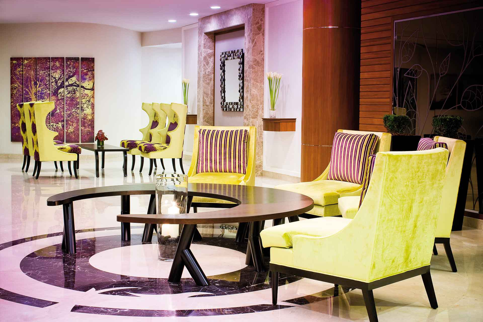 Interior of the lobby area of AVANI Deira Dubai Hotel