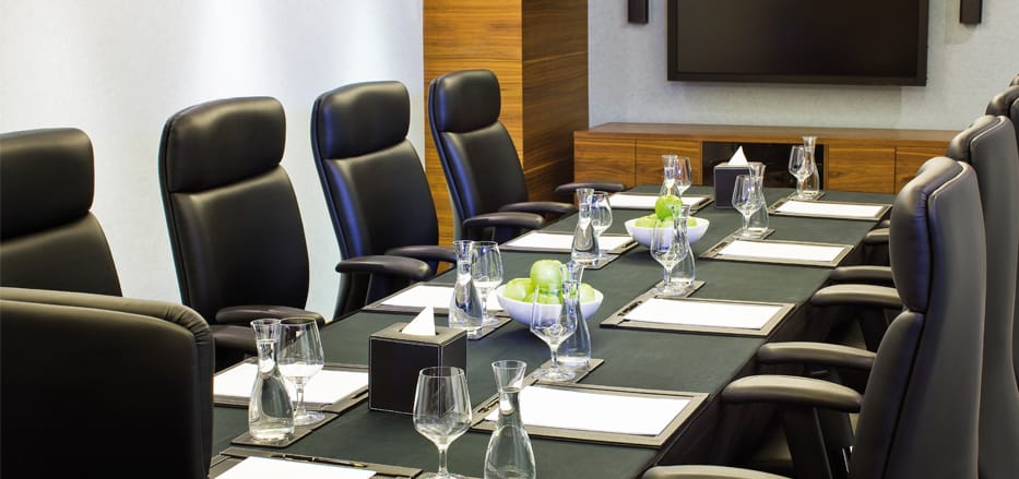 Boardroom setup at one of the Business Hotels in Dubai