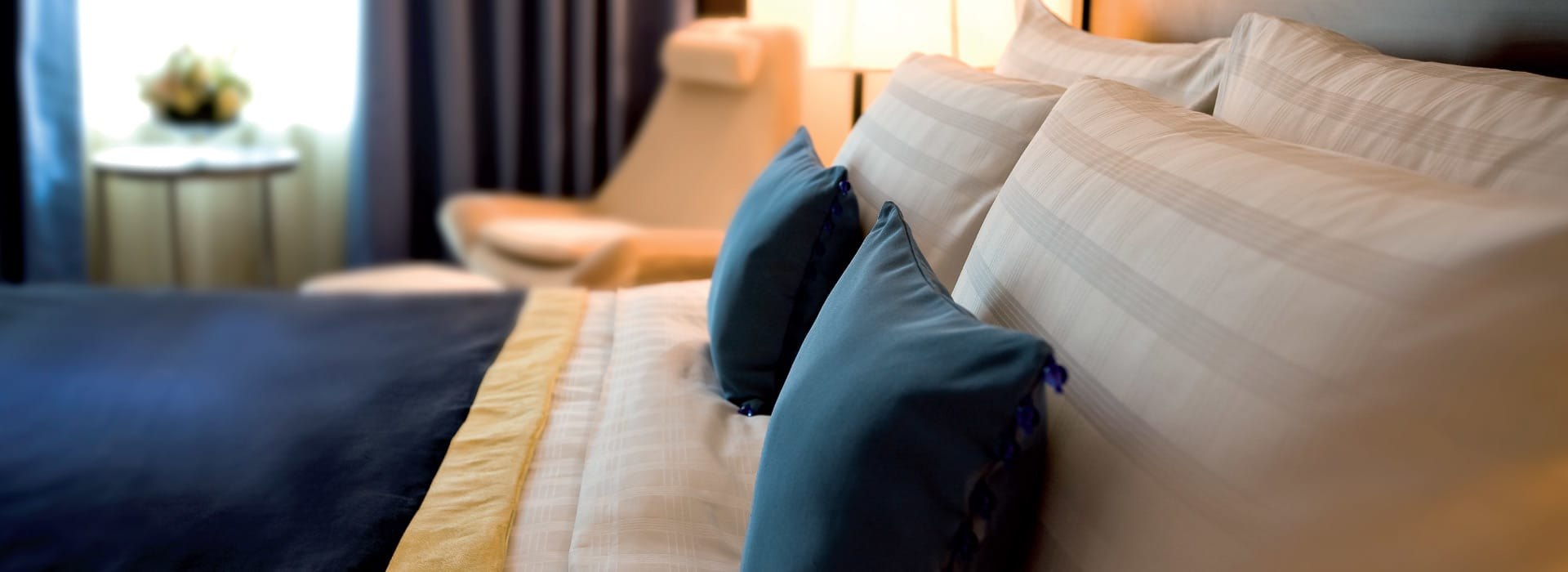 Pillows on a bed at one of the hotels in Dubai Deira