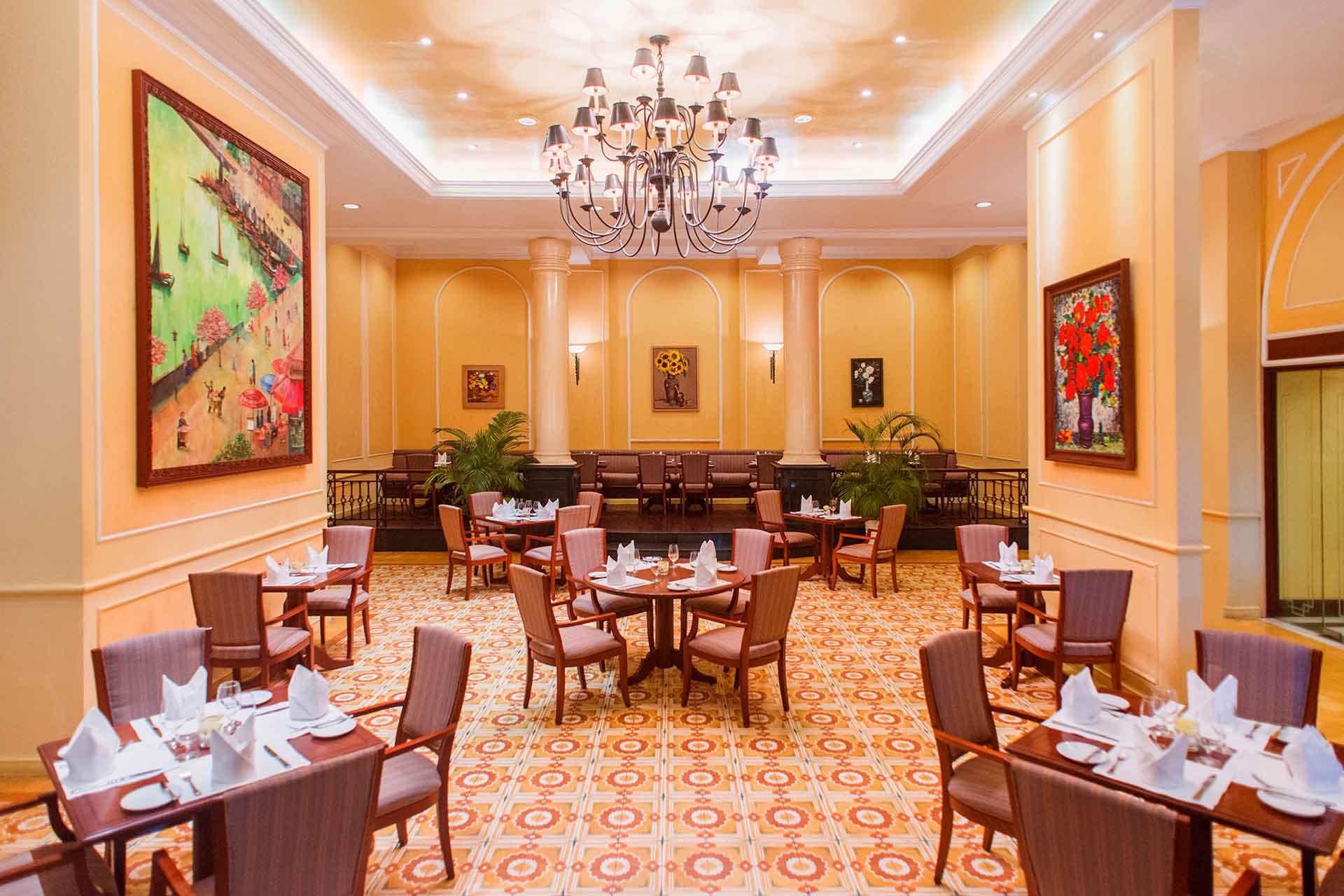 Interior of Harbour café restaurant